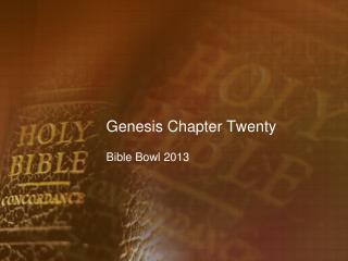 Genesis Chapter Twenty