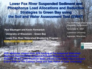 Lower Fox River Suspended Sediment and Phosphorus Load Allocations and Reduction Strategies to Green Bay using the Soil