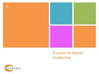 Il piano di  digital  marketing