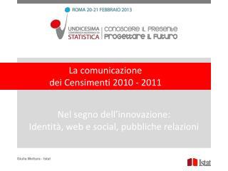 Nel segno dell'innovazione: Identità, web e social, pubbliche relazioni