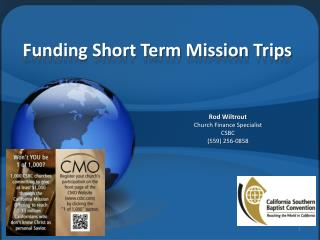 Funding Short Term Mission Trips