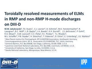 Toroidally resolved measurements of ELMs in RMP  and non-RMP H-mode  discharges on DIII-D
