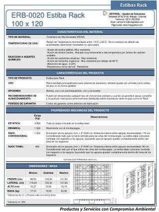 ERB-0020 Estiba Rack 100 x  120