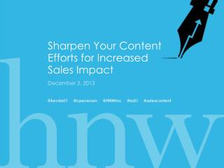 Sharpen Your Content Efforts for Increased Sales  Impact