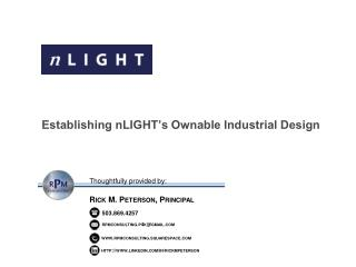 Establishing  nLIGHT's Ownable  Industrial Design