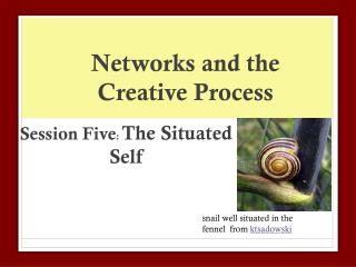 Networks and the Creative Process