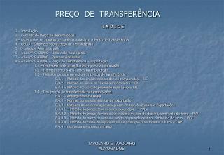 PRE O  DE  TRANSFER NCIA