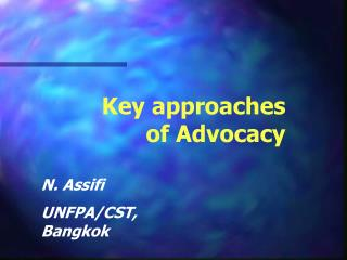Key approaches of Advocacy