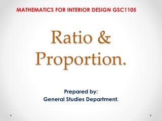Ratio & Proportion.