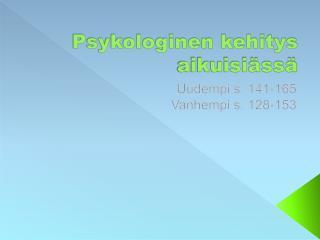 Psykologinen kehitys aikuisiässä