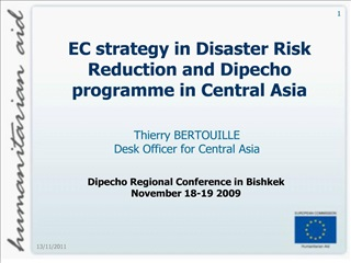 EC strategy in Disaster Risk Reduction and Dipecho programme in Central Asia