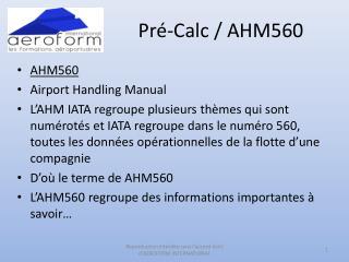 Pré-Calc / AHM560