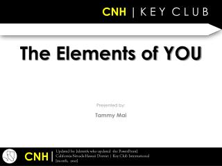 The Elements of YOU