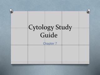 Cytology Study Guide