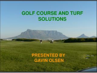 GOLF COURSE AND TURF SOLUTIONS