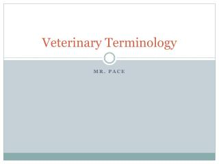Veterinary Terminology