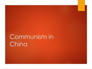 Communism in China