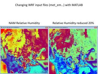 Changing WRF input files ( met_em …) with MATLAB