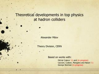 Theoretical developments in top physics  at hadron colliders