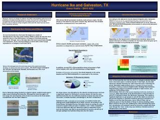 Hurricane Ike and Galveston, TX Osmar Padilla – ENVS 4262