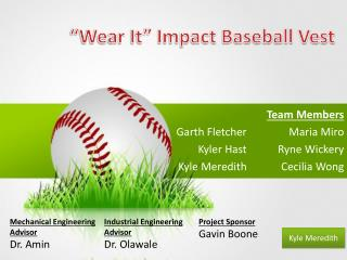 """Wear It""  Impact Baseball  Vest"