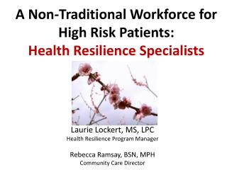Laurie Lockert, MS, LPC Health Resilience Program Manager Rebecca Ramsay, BSN, MPH