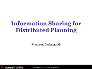 Information Sharing for Distributed Planning