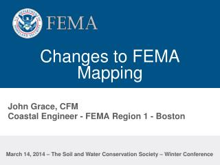 Changes to FEMA Mapping