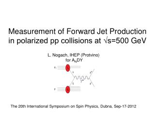 Measurement of Forward Jet Production in polarized pp collisions at √s=500  GeV