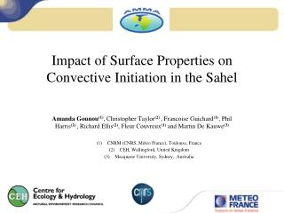 Impact of Surface  Properties  on Convective Initiation in the Sahel