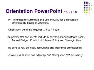 Orientation PowerPoint  (REV  4-14)
