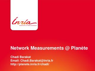 Network Measurements @  Planète