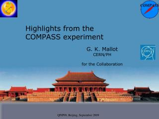 Highlights from the  COMPASS experiment