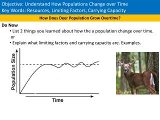 Objective: Understand How Populations Change over Time