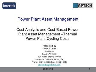 Power Plant Asset Management
