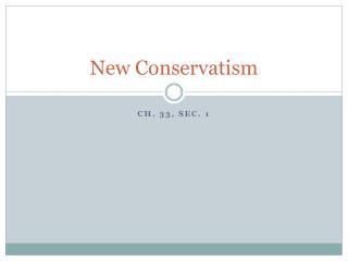 New Conservatism