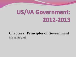 US/VA Government:  2012-2013