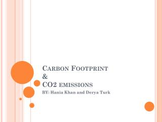 Carbon Footprint  &  CO2 emissions