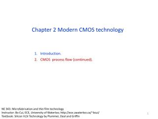 Chapter 2 Modern CMOS technology