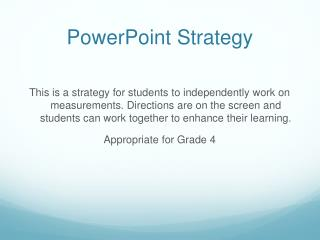 PowerPoint Strategy