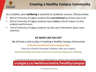 Creating a Healthy Campus Community