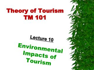 Theory of Tourism TM 101