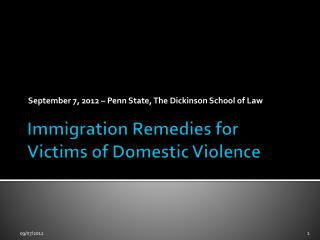 Immigration Remedies for Victims of Domestic Violence