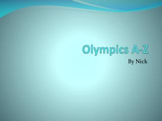 Olympics A-Z