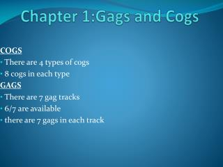 Chapter 1:Gags and Cogs