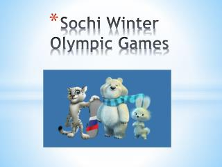 Sochi Winter Olympic Games