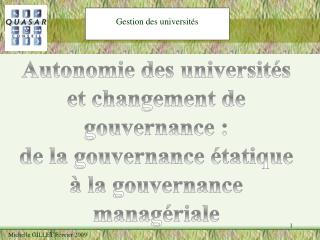 Gestion des universit s