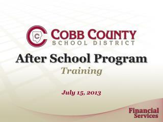 After School Program Training