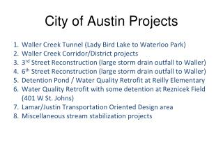 City of Austin Projects