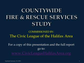 COUNTYWIDE  FIRE & RESCUE SERVICES STUDY